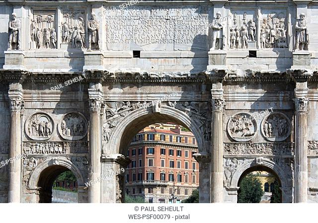 Italy, Rome, Arch of Constantine