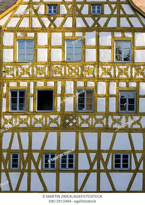 """The Alte Rathaus (Old City Hall), the landmark of Bamberg. Bamberg in Franconia, a part of Bavaria. The Old Town is listed as UNESCO World Heritage """"""""Altstadt..."""