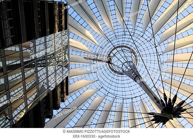 The Sony center in Potsdamer Platz, Berlin, Germany