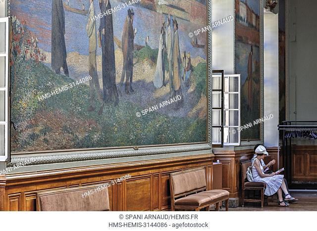 France, Haute Garonne, Toulouse, listed at Great Tourist Sit, painting dreamers of the painter Henri Martin