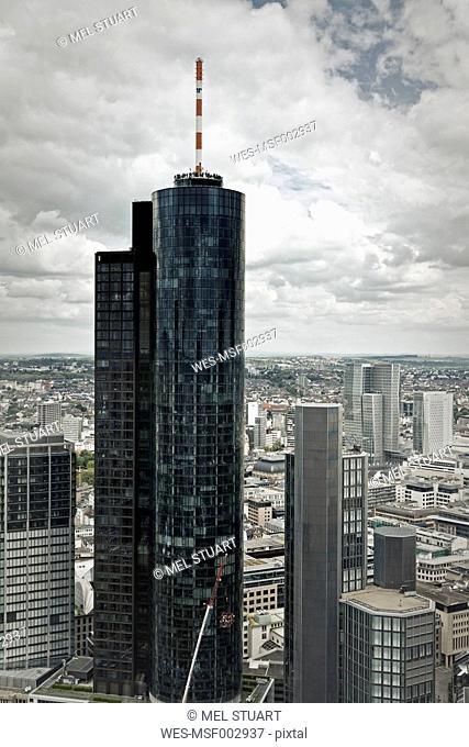 Germany, Hesse, Frankfurt, View of Main Tower