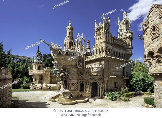Spain, Andalucia, Malaga Province, Costa del Sol,Benalmadena City, Colomares Castle,