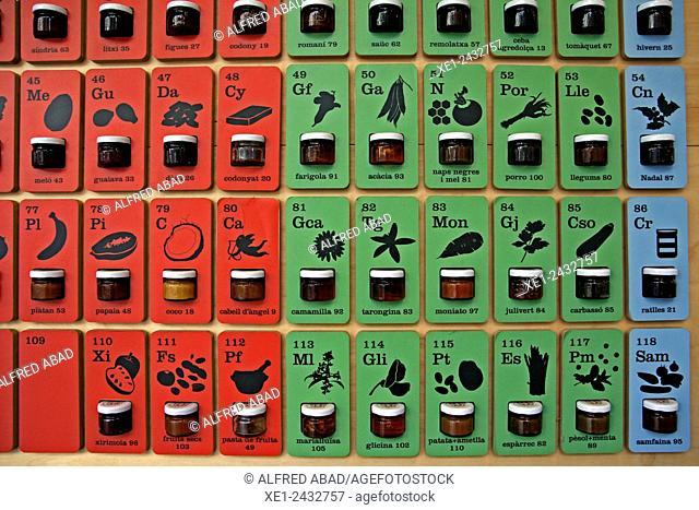 Periodic Table of jams, Fundacio Alicia, Sant Fruitos del Bages, Catalonia, Spain