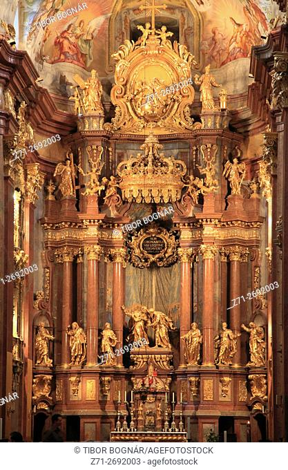 Austria, Lower Austria, Melk, Abbey, Church, interior,