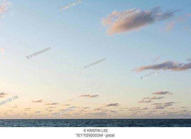 Clouds in sky at dawn