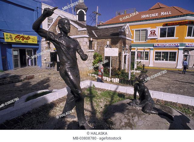 Jamaica, Montego bay, statue Sam Sharp   Caribbean, big Antilles, Caribbean island, northwest Jamaica, port, city, destination, tourist center, sight, monument