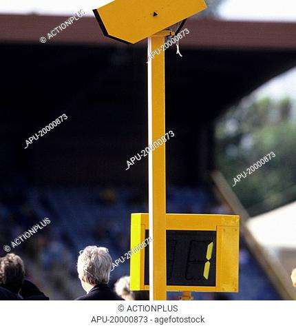 Electronic camera with officials close by