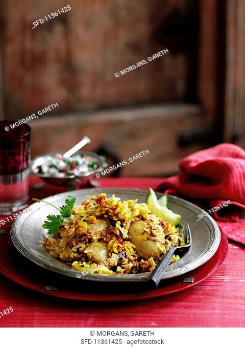 Chicken biryani from India