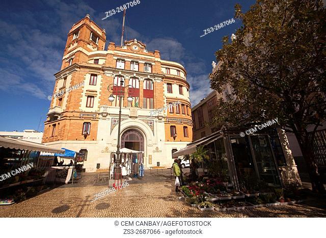 Old Post Office building-Antiguo Edificio de Correo, Atlantic Ocean, Cadiz City, Andalusia, Spain, Europe