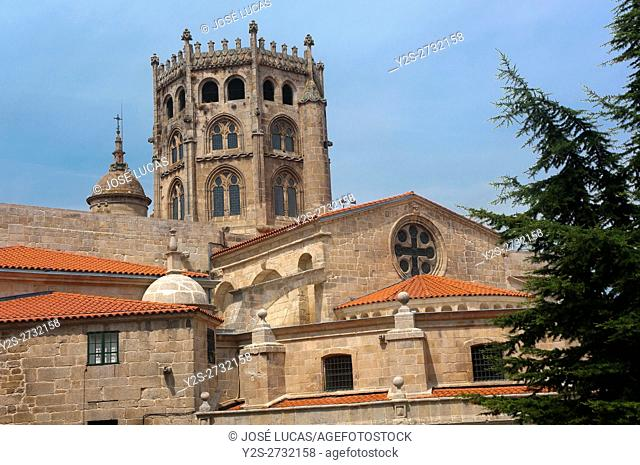 Gothic St. Martin's Cathedral - 12th century, Orense, Region of Galicia, Spain, Europe