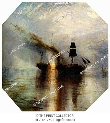 'Peace, Burial at Sea of the Body of Sir David Wilkie', c1842, (1912). A colour print from Famous Paintings, with an introduction by Gilbert Chesterton