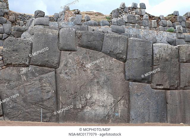Peru, Cusco. The ancient ruins of Saqsaywaman in Cusco