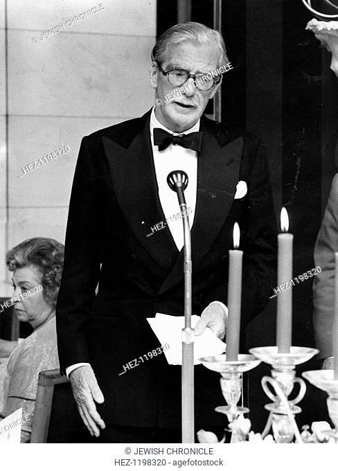 Anthony Eden (1897-1977), 1st Earl of Avon, 1965. British Statesman, foreign minister in 1935, knighted in 1954, became prime minister upon Churchill's...