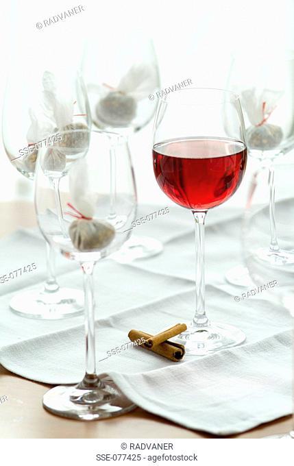 preparing aperitif drinks