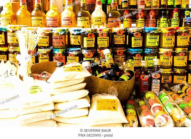 Local products : jam, rhum..aint-Pierre, Martinique, France