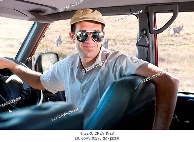 Safari guide wearing sunglasses, Stellenbosch, South Africa