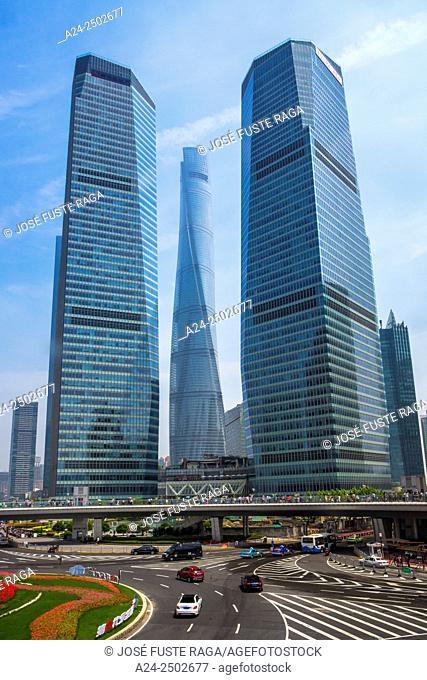 China, Shanghai City, Lujiazui ,Shanghai Tower