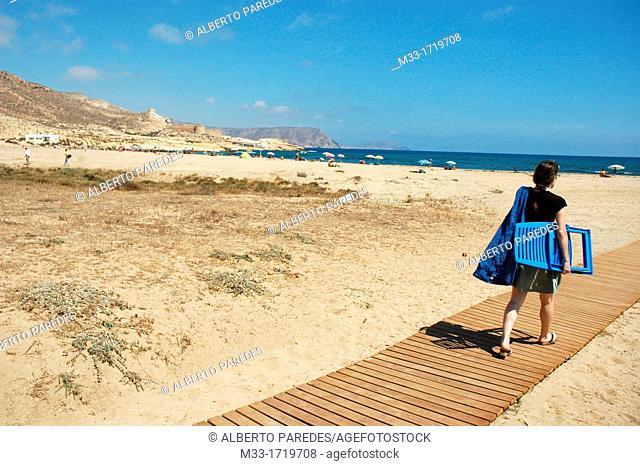 El Playazo beach CABO DE GATA NATURAL PARK Almeria province Andalusia Spain