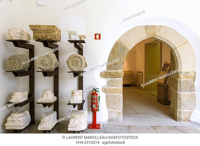 Exhibition of a collection of Capitals, Evora Museum, Evora, Alentejo Region, Portugal, Europe