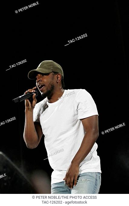 Kendrick Lamar performs at Life is Beautiful Music Festival Day 3 on September 27th, 2015 in Las Vegas, Nevada