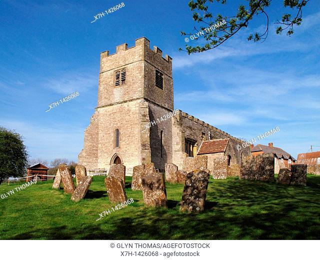 St Giles Church, Chesterton, Warwickshire, England