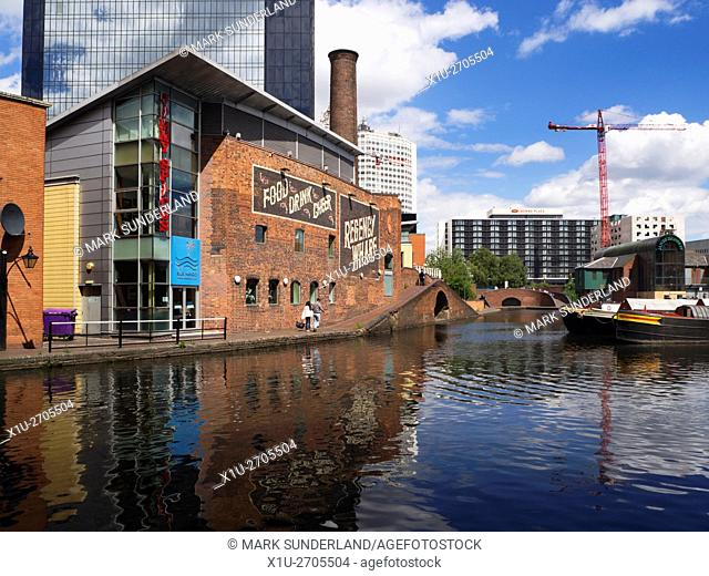 Regency Wharf on the Birmingham Canal at Gas Street Basin Birmingham West Midlands England