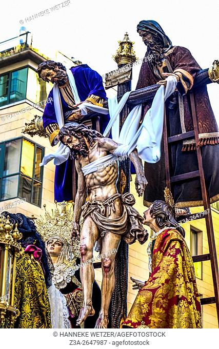 Semana Santa procession in Malaga, Spain, Europe