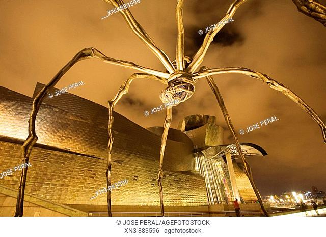 Maman'(1999) sculpture by Louise Bourgeois. Guggenheim Museum. Bilbao. Biscay, Euskadi, Spain