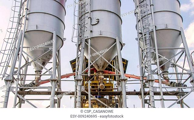 Cement factory a mixer cement tower