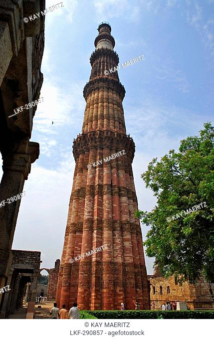 The minaretQutb Minar, New Delhi, Indian capital, India, Asia