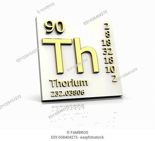 Thorium form Periodic Table of Elements - 3dm made