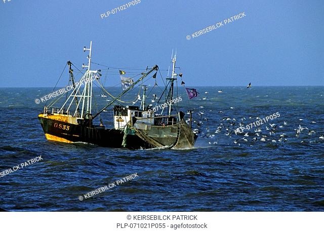 Fishing boat at sea, Ostend, Belgium
