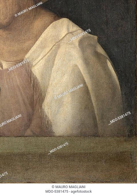 The Old Woman (With Time), by Giorgio da Castelfranco known as Giorgione, 1508 - 1510 about, 16th Century, tempera and walnut oil on hempen cloth transferred...