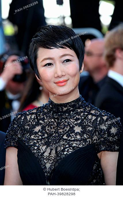 "Actress Tao Zhao attends the premiere of """"Zulu"""" during the 66th Cannes International Film Festival at Palais des Festivals in Cannes, France, on 26 May 2013"