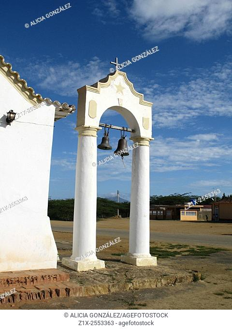 Colonial Arch and ancient bells, Peninsula of Paraguana, Falcon state Venezuela