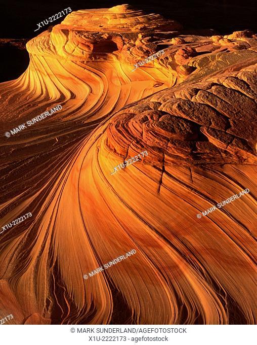 Sandstone Swirls at Coyote Buttes on the Arizona Utah Border USA