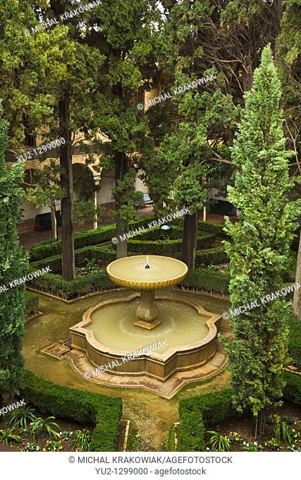 Fountain in Alhambra Granada, Spain