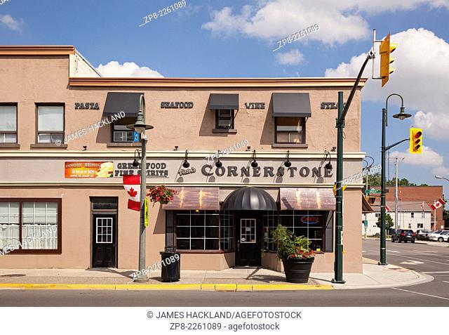'Victor's Cornerstone' restaurant in downtown Caledonia, Ontario, Canada