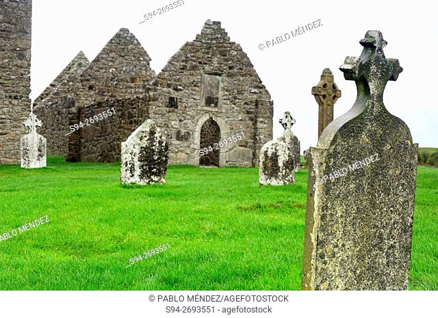 Cemetery and monastery of Cloncmacnoise, Offaly county, Ireland