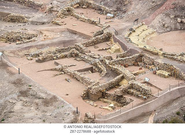 Argarian settlement of La Bastida, archaeological site, Totana, Murcia, Spain