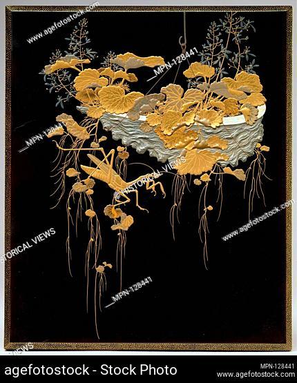 Period: Meiji period (1868-1912); Date: second half of the19th century; Culture: Japan; Medium: Lacquered wood with gold, silver takamaki-e, hiramaki-e