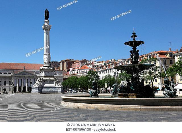 Rossio Platz in Lissabon Portugal