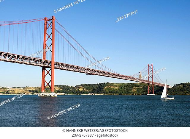 The 25 de Abril Bridge (Ponte 25 de Abril, 25th of April Bridge) is a suspension bridge connecting the city of Lisbon, capital of Portugal