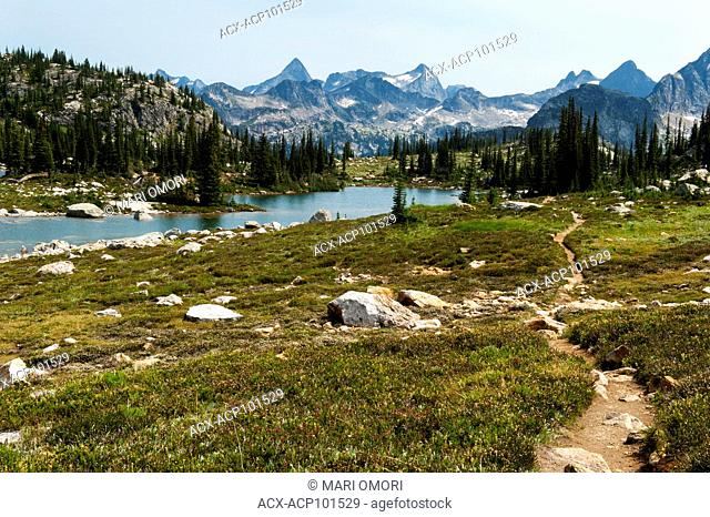 Gwillim Lake trail in Valhalla Provincial Park