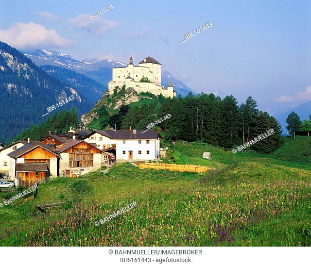 Tarasp near Schuls Engadin canton of Graubuenden Switzerland