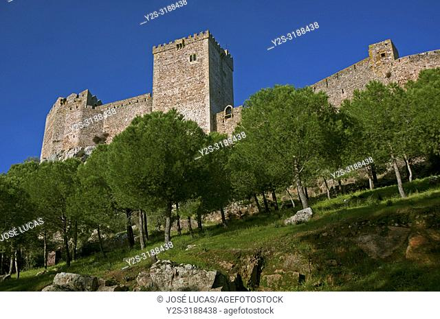 The Castle of the Moon -13th century, Alburquerque, Badajoz province, Region of Extremadura, Spain, Europe