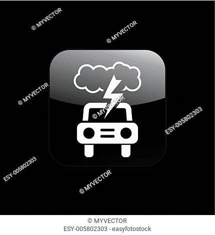 Vector illustration of single car icon