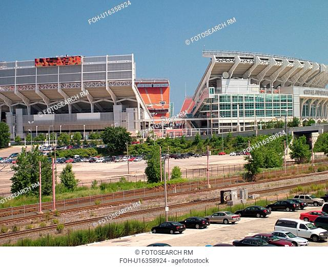 Cleveland, OH, Ohio, Downtown, Brown Stadium, NFL, Football, Browns