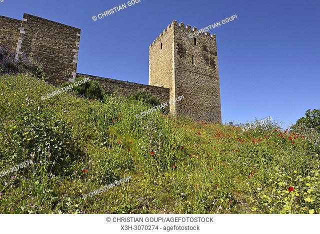 Castle of Mertola, Alentejo region, Portugal, southwertern Europe