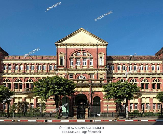 High Court Building in downtown Yangon, Rangoon, Burma, Myanmar